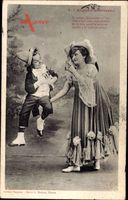 Auguste amoureux, Karnevalskostüme, Liebespaar, Frankreich