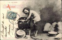 Le Pain, Bäcker bei der Arbeit, Konditorei, Mehrsäcke
