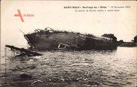 Saint Malo Ille et Vilaine, Naufrage du Hilda, 19 Novembre 1905
