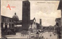 Pietrasanta Toscana, Piazza Umberto I., Platz, Turm, Denkmäler