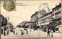 Kiew Ukraine, Rue Phoundoukleevskaya, Straßenpartie, Straßenbahn