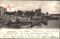 Sevastopol Ukraine, Flusspartie, Anlegestelle, Boote, Freitreppe