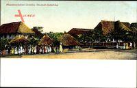 Tansania Deutsch Ost Afrika, Blick auf die Missionsstastion Urambo
