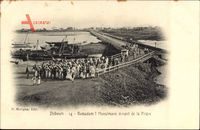 Dschibuti, Ramadam, Musulmans venant de la Priere, Muslime