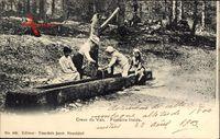 Creux du Van Kt. Jura Schweiz, Fontaine froide, Brunnen im Wald