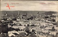 Lwów Lemberg Ukraine, Totalansicht der Ortschaft, Kirchtürme