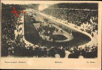 Athen Griechenland, Le Stade, Blick in das Stadion, Zuschauer