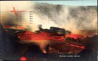 Kilauea Hawaii, Blick in die Caldera eines Vulkans, Lava