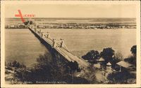 Kiew Ukraine, Blick auf die Nicolas Brücke, Fluss Dnepr