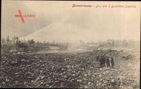 Boscotrecase Campania, nach dem Vulkanausbruch des Vesuv 1906, Steine