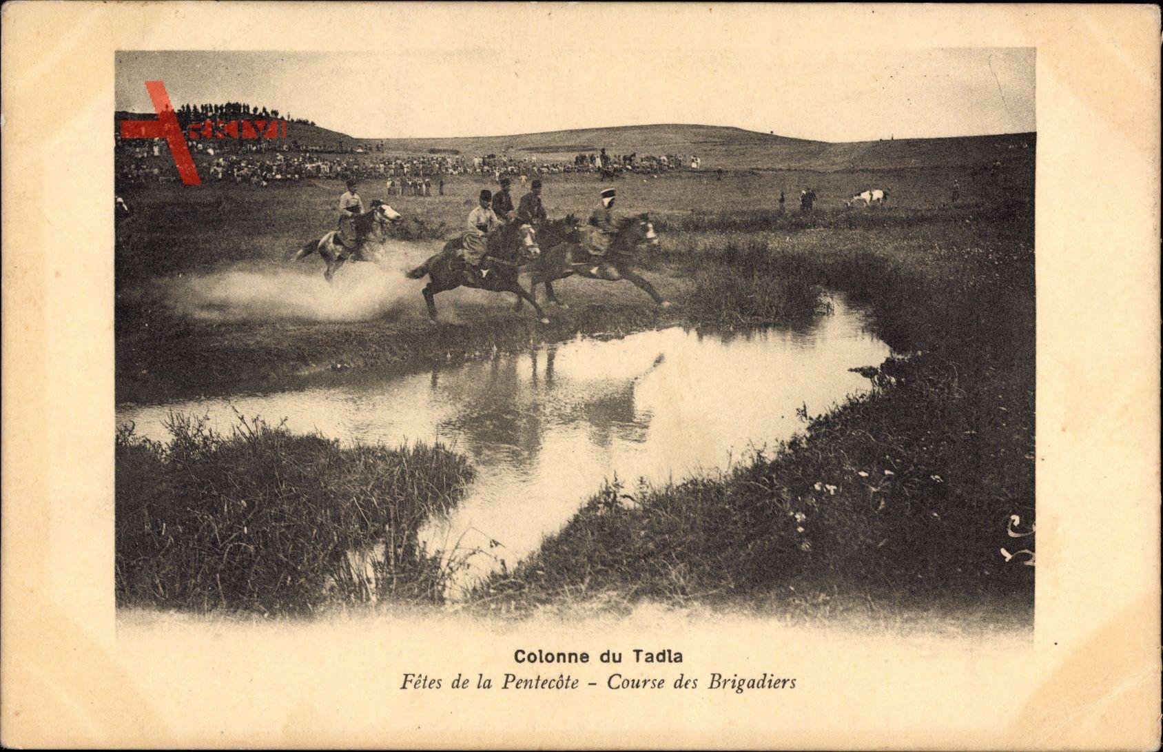 Marokko, Colonne du Tadla, Fetes de la Pentecote, Course des Brigadiers