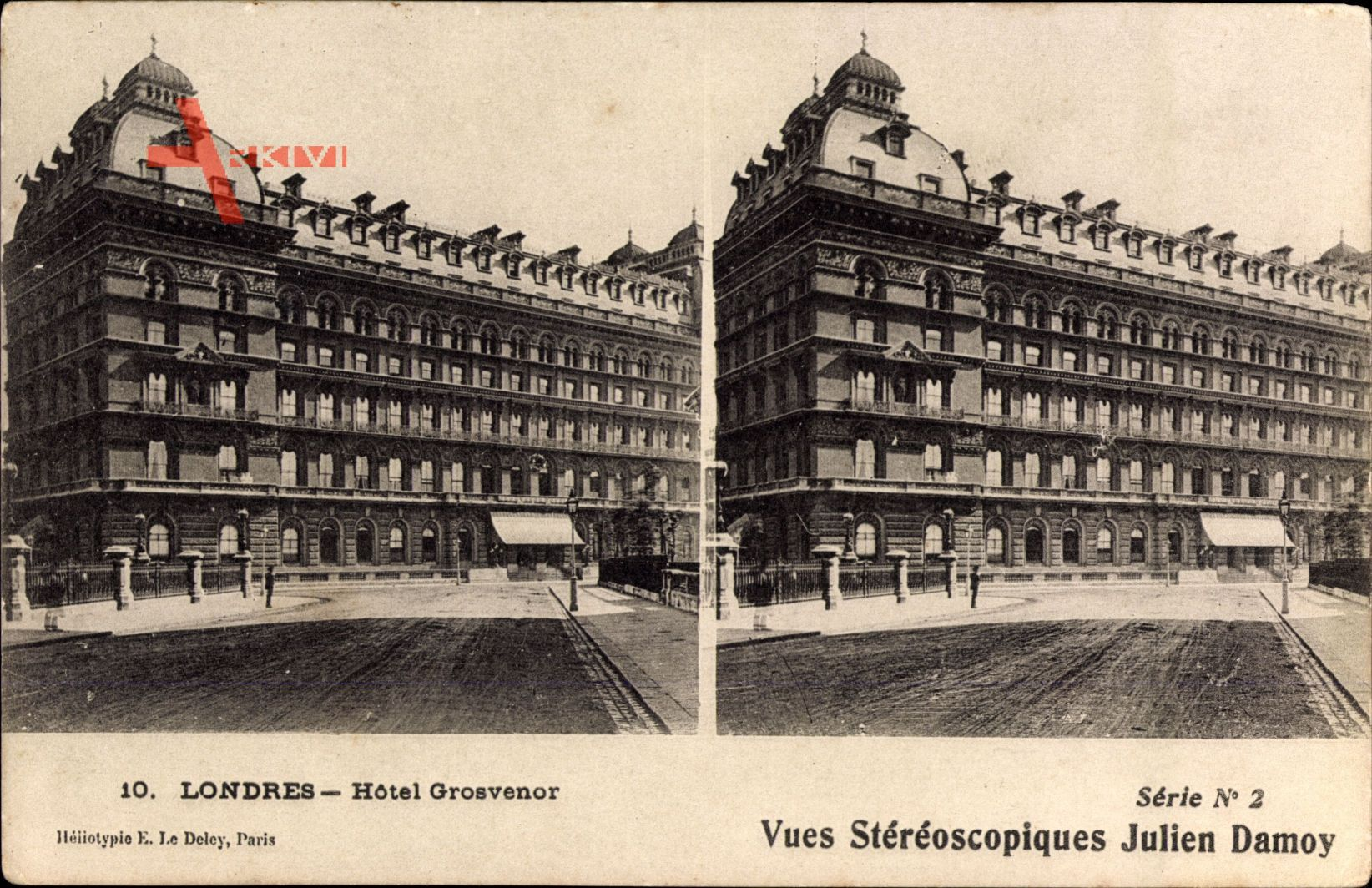 London City, View of the Grosvenor Hotel, street, facade