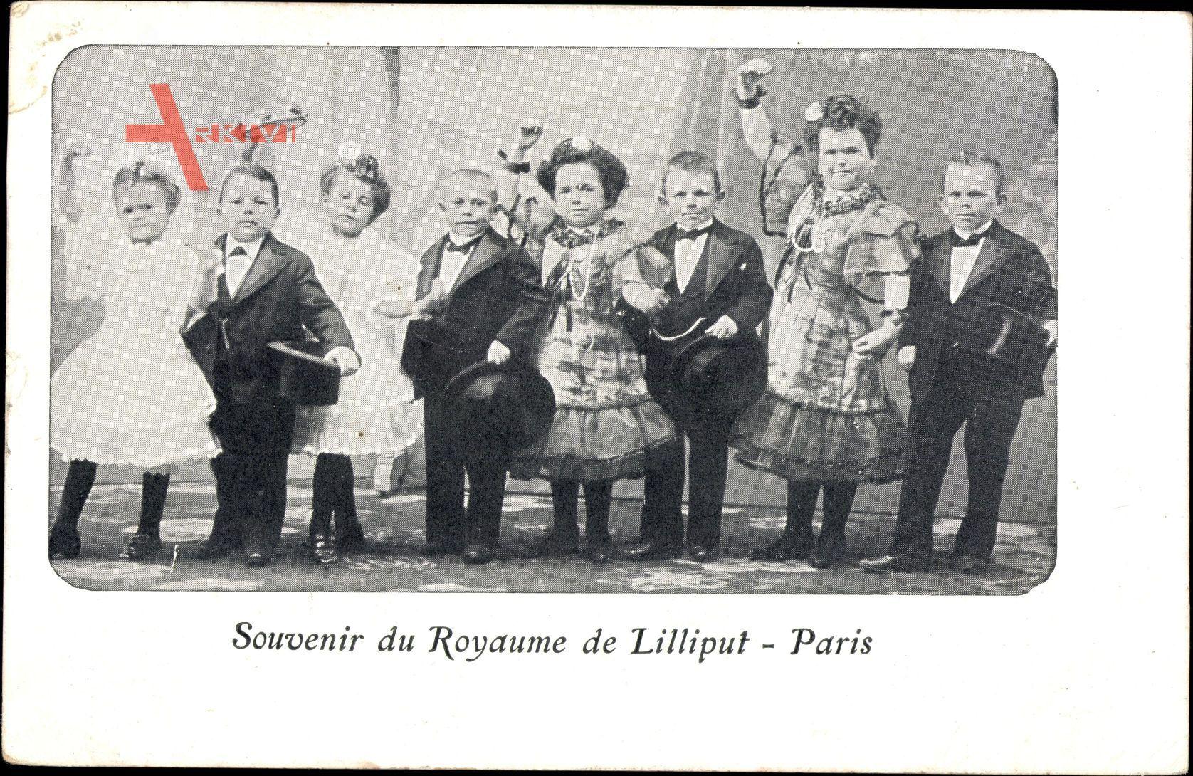 Souvenir du Royaume de Liliput, Paris, Liliputaner