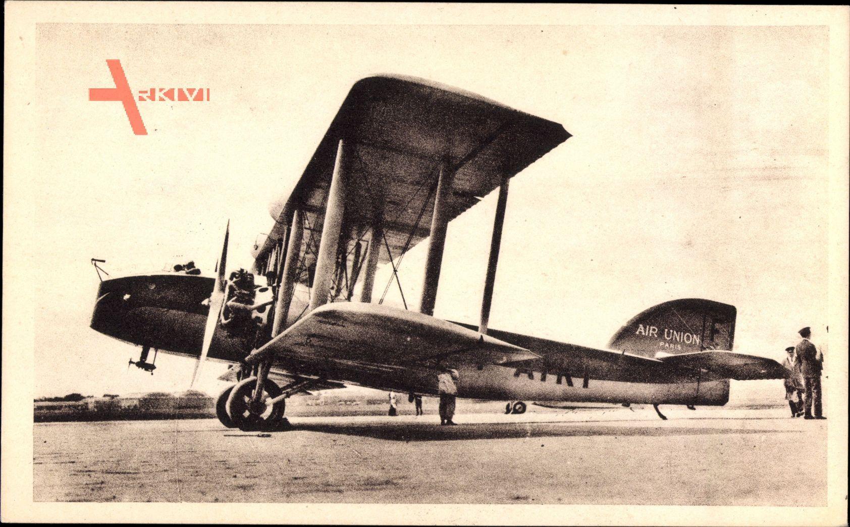 Paris Londres, Avion Bar Bleriot, 2 moteurs Jupiter, Doppeldecker, Air Union