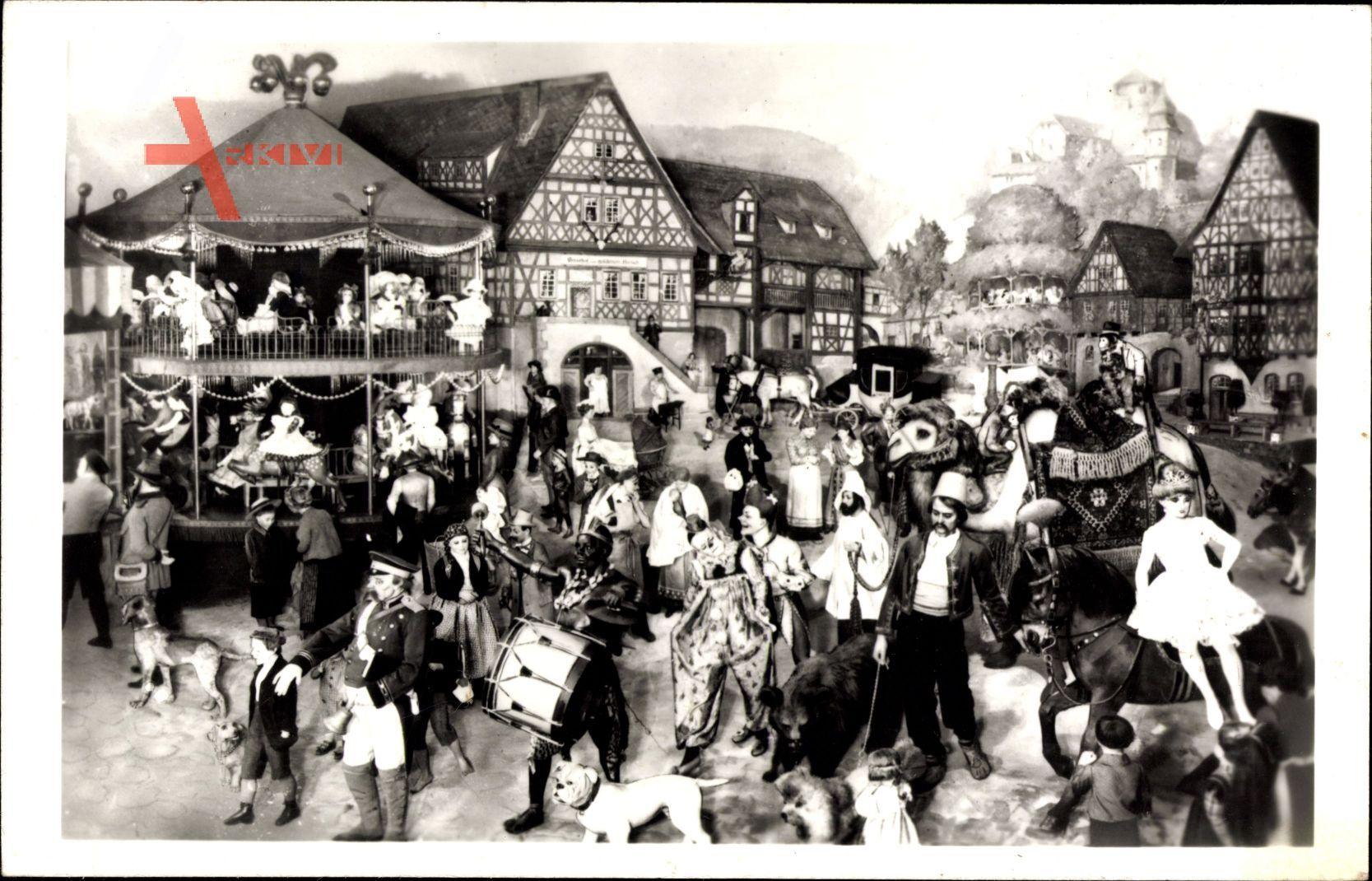 Sonneberg in Thüringen, Kirmes, Waltausstellungsgruppe 1910, Spielzeug