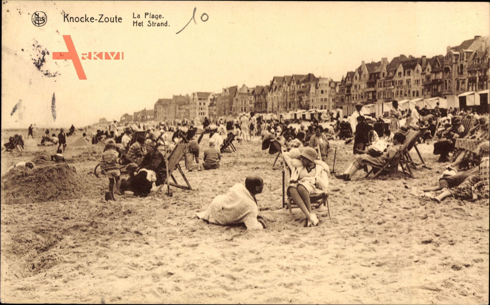Knocke Zoute Westflandern Belgien, La Plage, Strandpartie, Sand