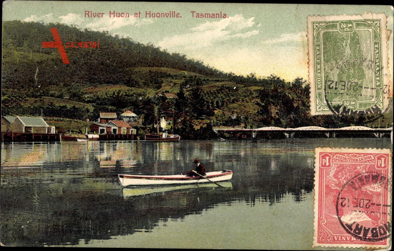 Tasmanien Australien, River Huon at Huonville