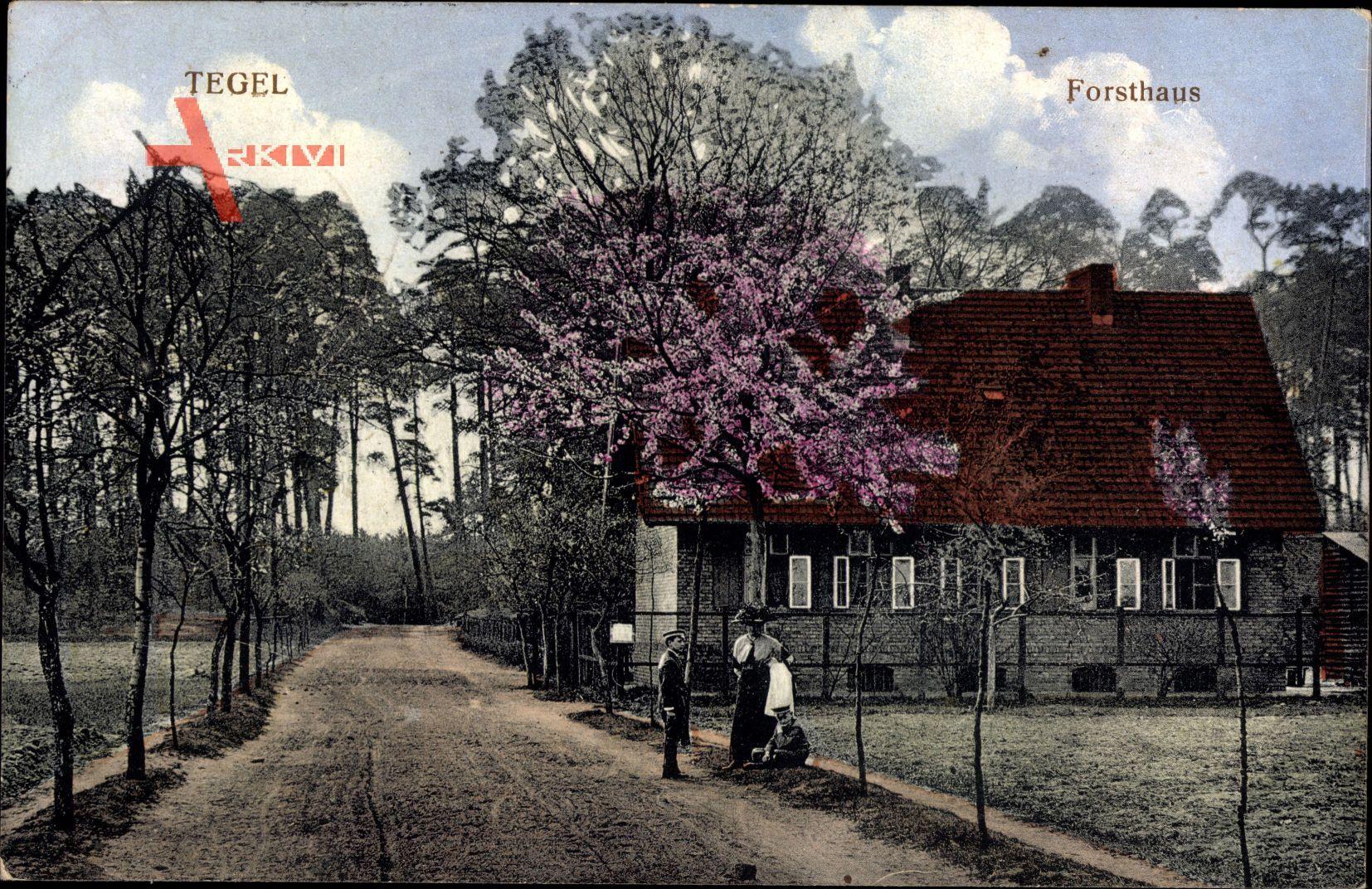 Berlin Reinickendorf Tegel, Blick auf das Forsthaus