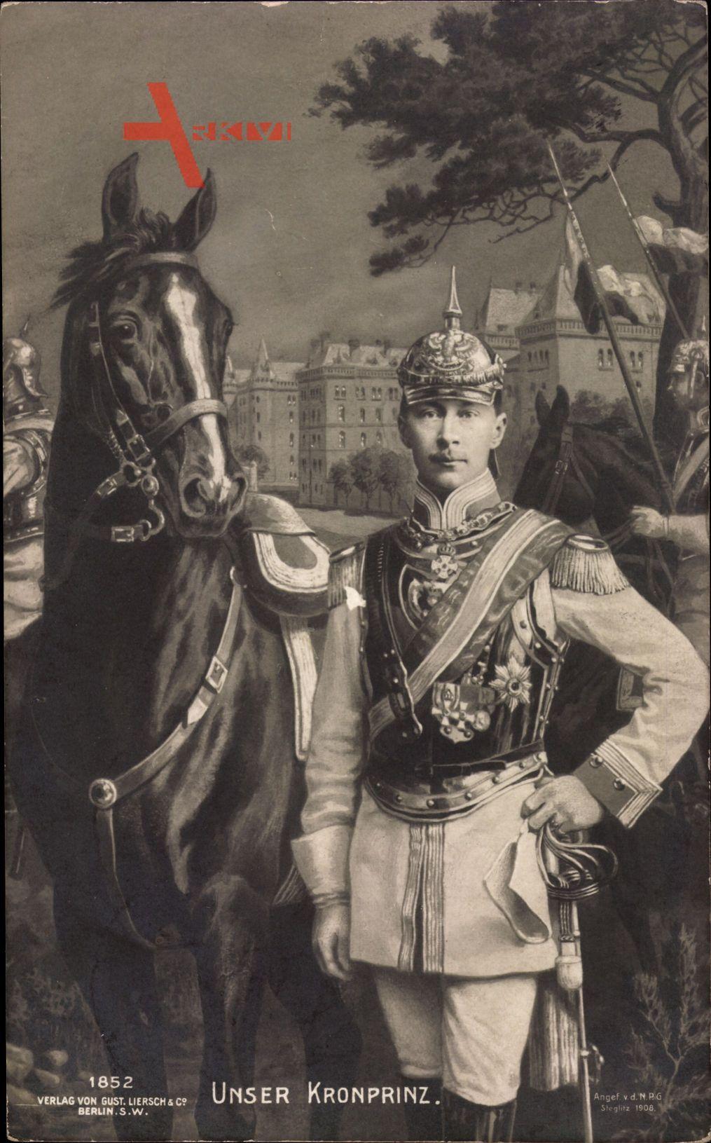 Kronprinz Wilhelm von Preussen, Pferd, Liersch 1852, Uniform