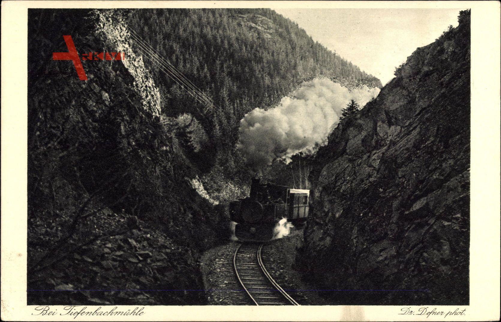 Nordhausen, Wernigeroder Eisenbahn, Bei Tiefenbachmühle, Dampflokomotive
