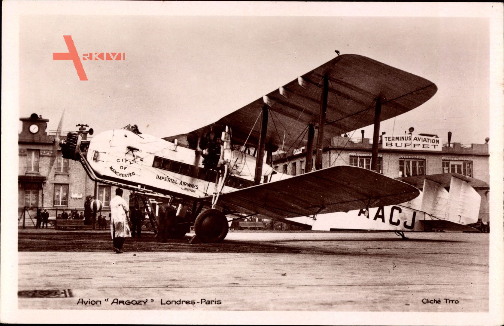 Avion Argozy, Londres Paris, City of Manchester, Imperial Airways