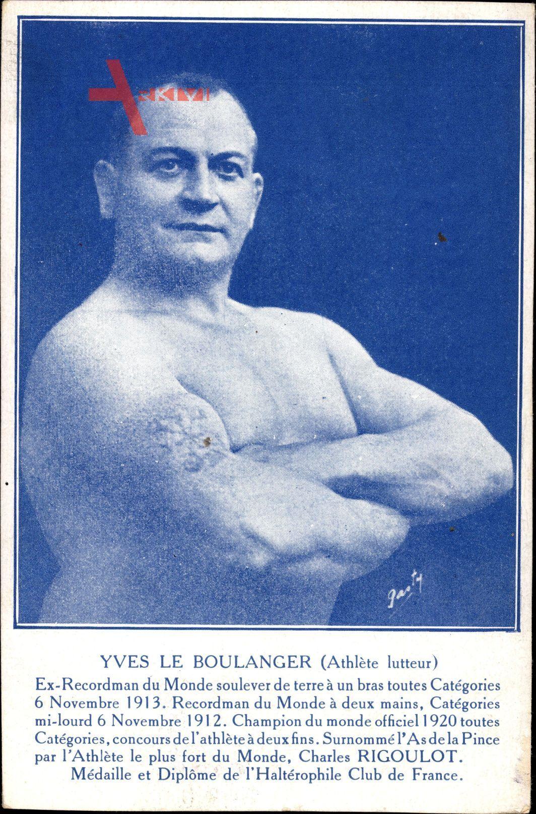 Yves le Boulanger, Athlète lutteur, Französisches Ringer