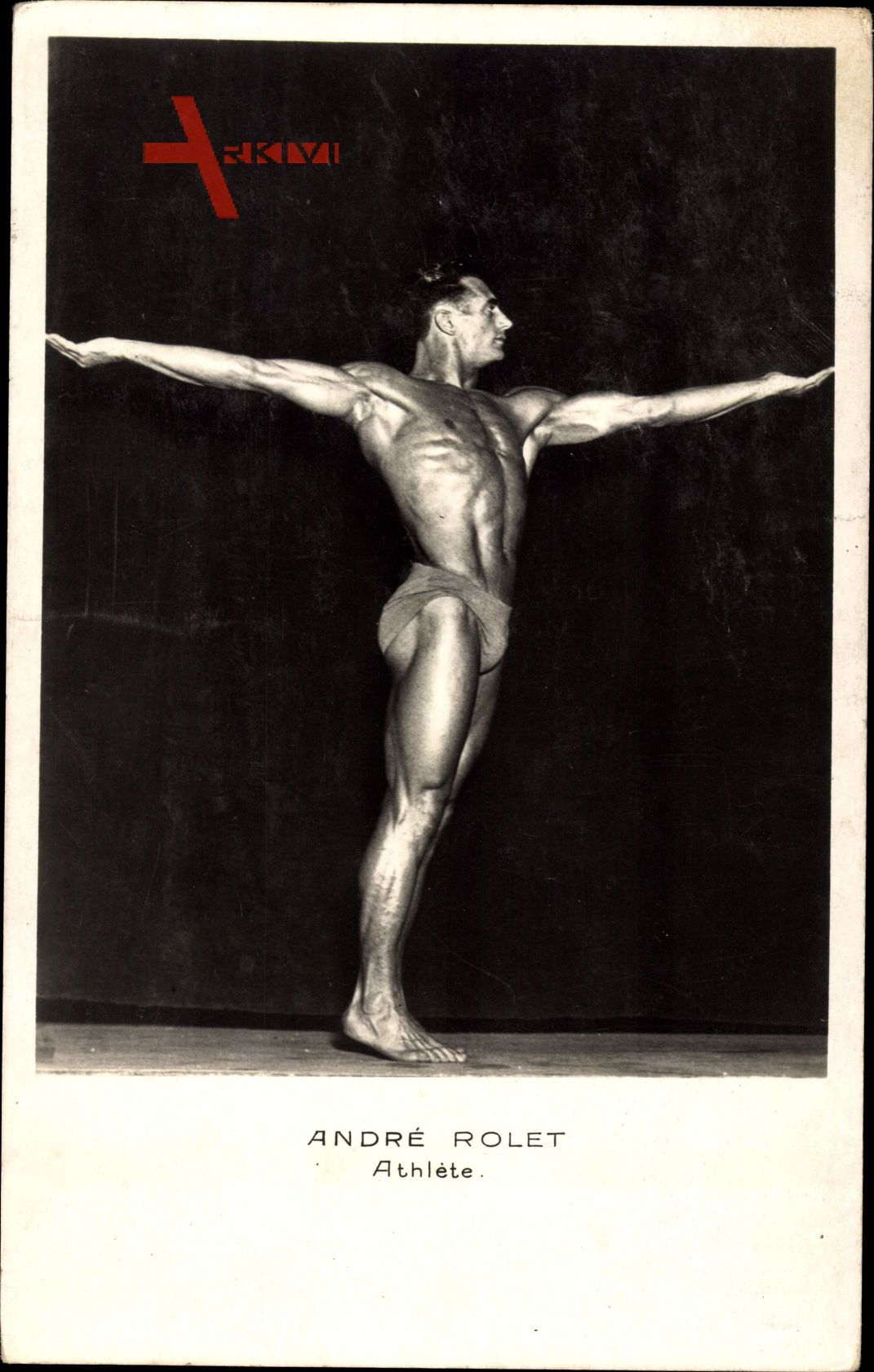 Adnré Rolet, Athlète, Bodybuilder, In Pose, Gewichtheber