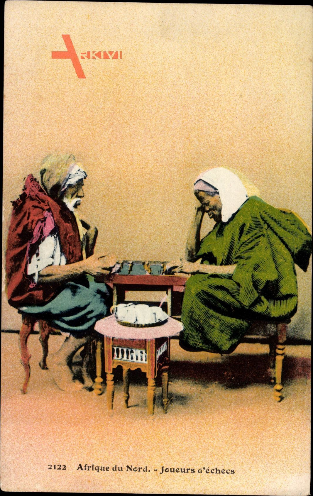 Afrique du Nord, Joueurs déchecs, Arabische Schachspieler