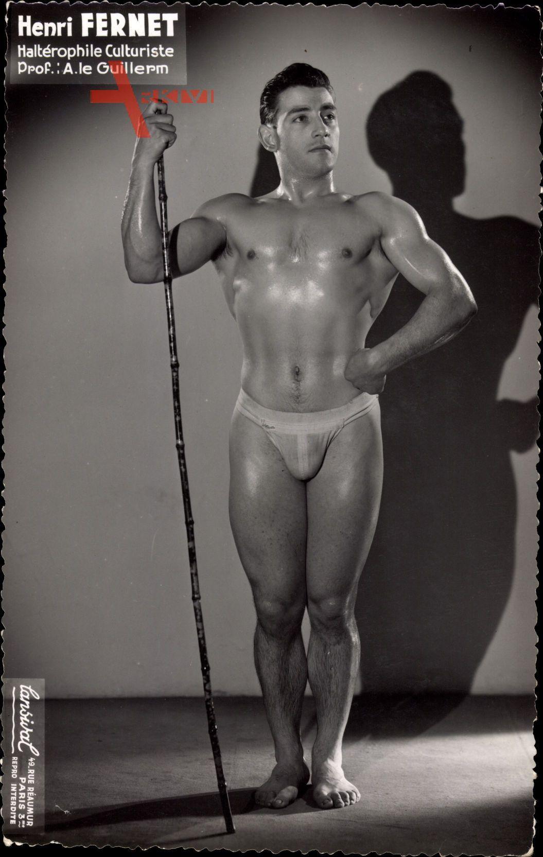 Henri Fernet, Haltérophile Culturiste, Bodybuilder, Gewichtheber