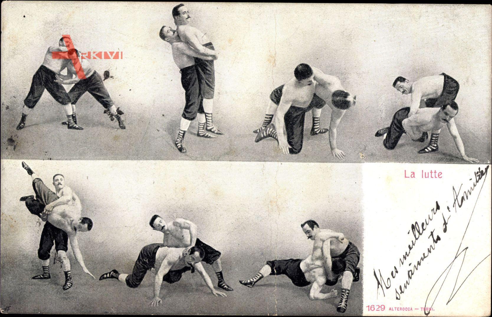 La lutte, Ringer in verschiedenen Positionen