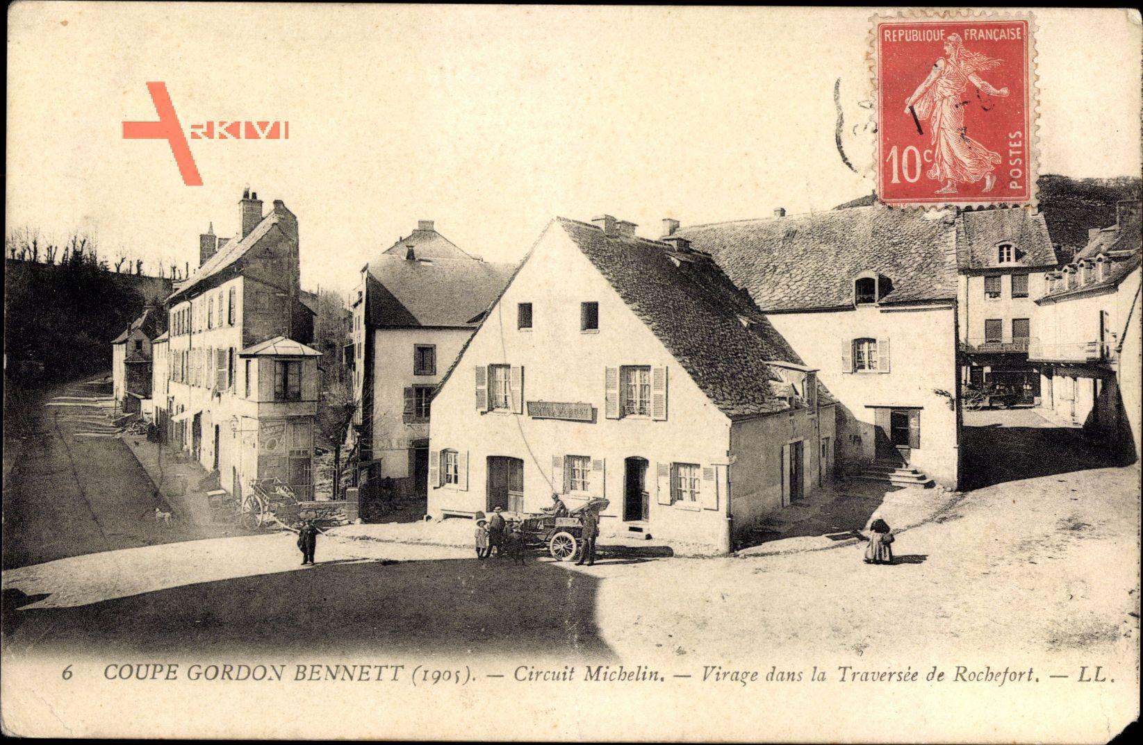 Coupe Gordon Bennett 1905, Circuit Michelin, Traversée de Rochefort