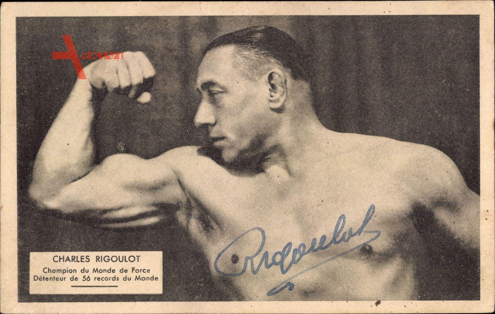 Charles Rigoulot, Champion du Monde de Force, Körperkultur