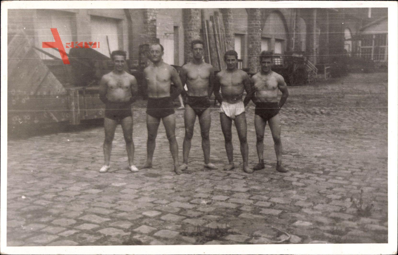 Frankreich, Gewichtheber, Körperkultur, Muskelmänner