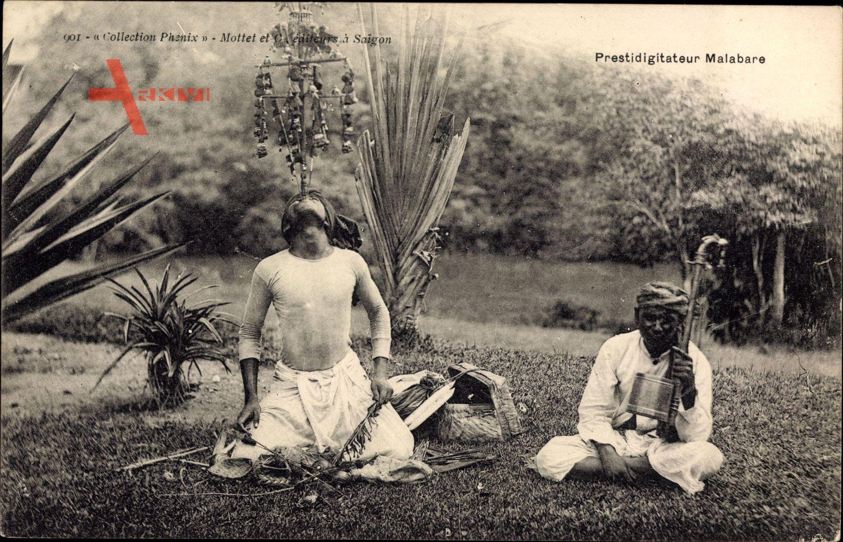 Prestidigitateur Malabare, Gaukler, Jongleur, Musiker