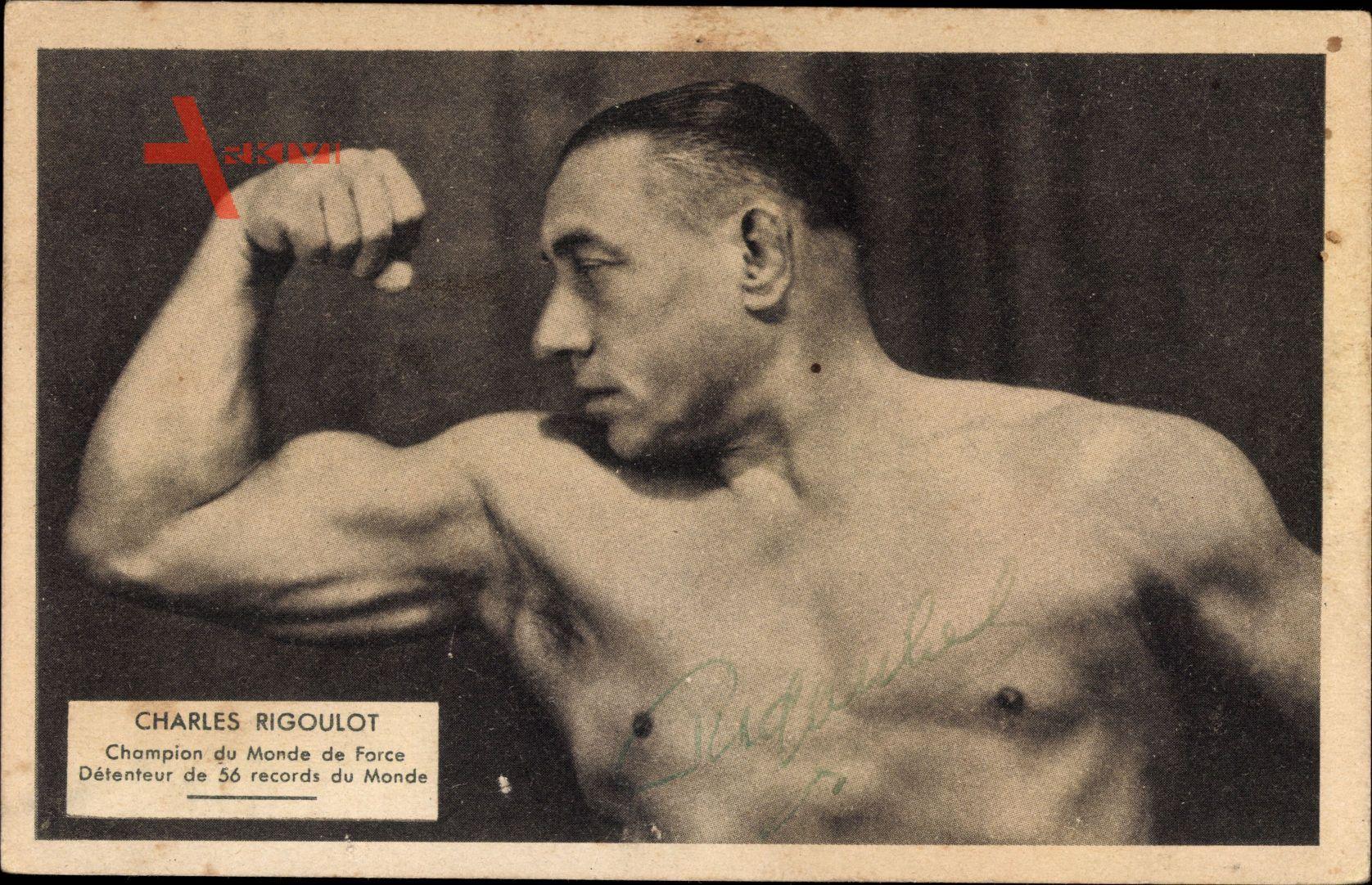 Charles Rigoulot, Gewichtheber, Bodybuilder, Körperkultur