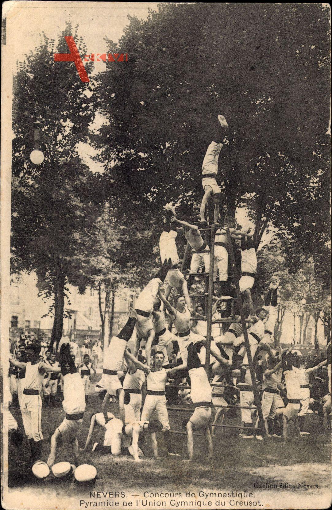 Nevers Nièvre,Concours de Gymnastique,Pyramide de lUnion Gymnique du Creusot