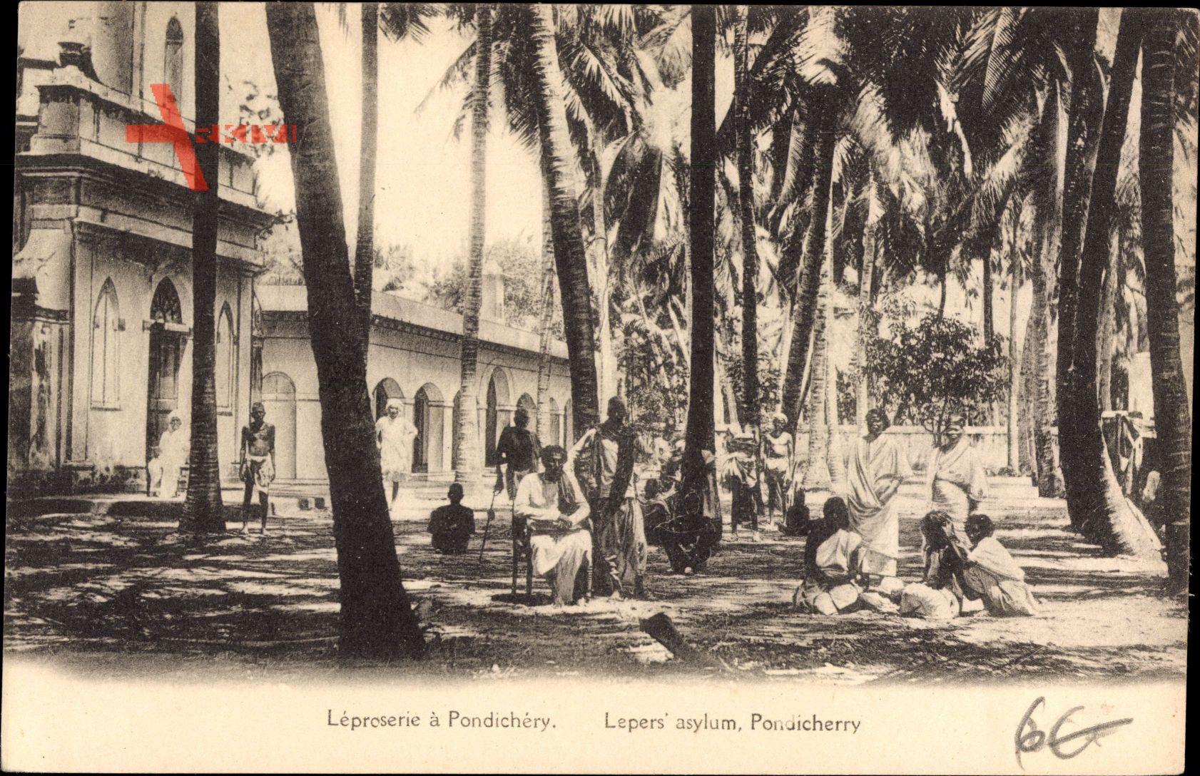Pondichery Indien, Leposerie, Lepers asylum, Leprakranke