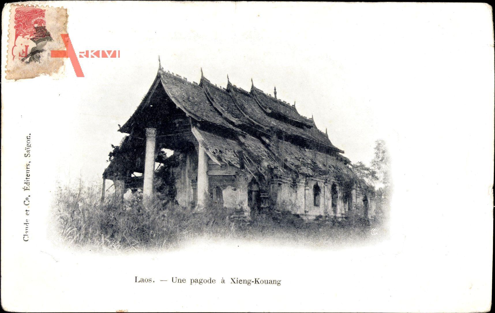 Xien Kouang Laos, Une pagode, Blick auf eine Pagode, Tempel