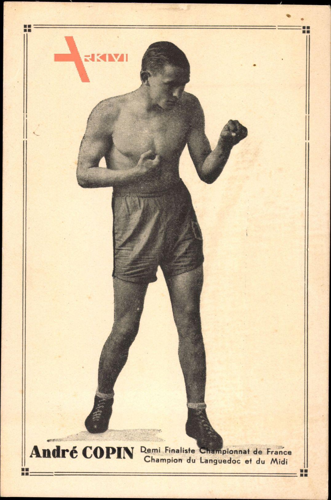 André Copin, Demi Finaliste Championnat de France, Boxer