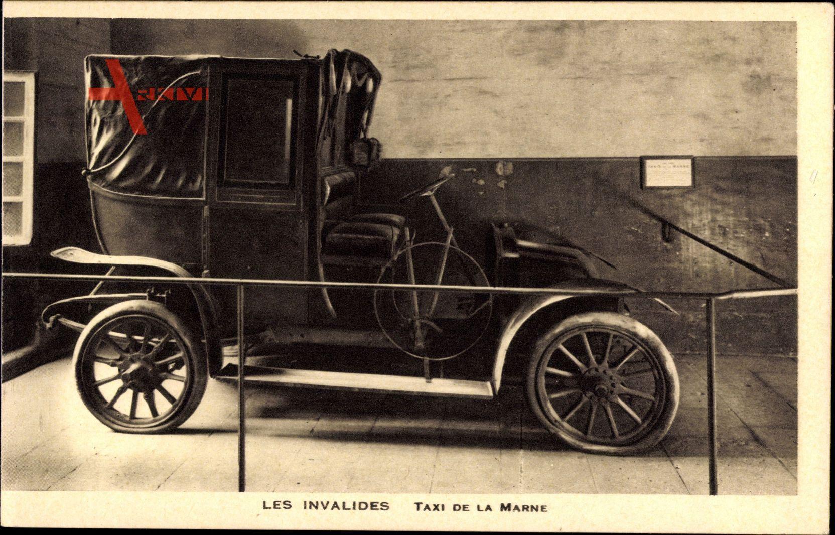 Paris, Les Invalides, Taxi de la Marne, Oldtimer, Altes Taxi, Ausstellung