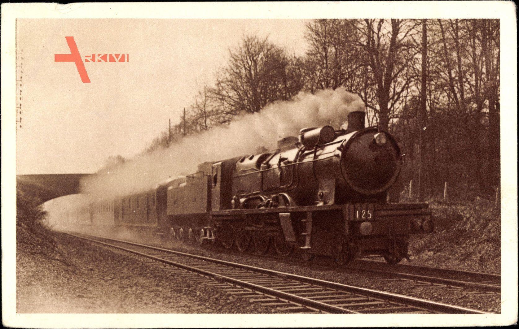 Französische Eisenbahn, Chemin de fer, Locomotive, Nord, Paris Liége, 125