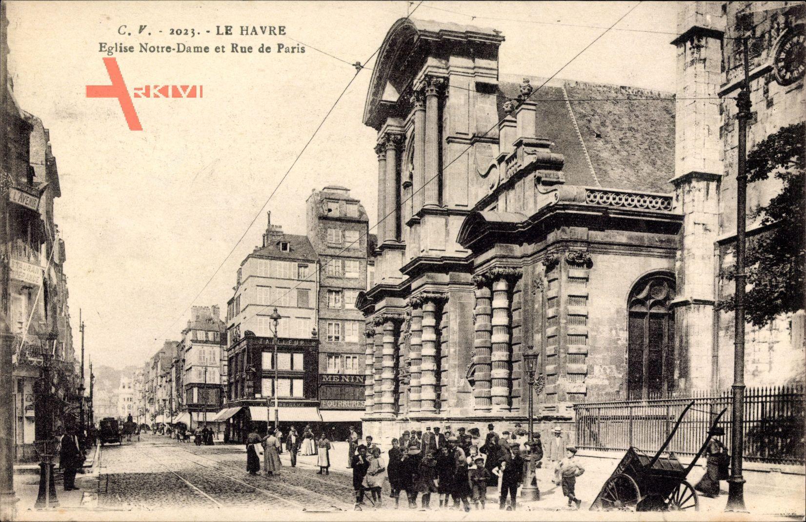 Le Havre Seine Maritime, Eglise Notre Dame et Rue de Paris, Kirche