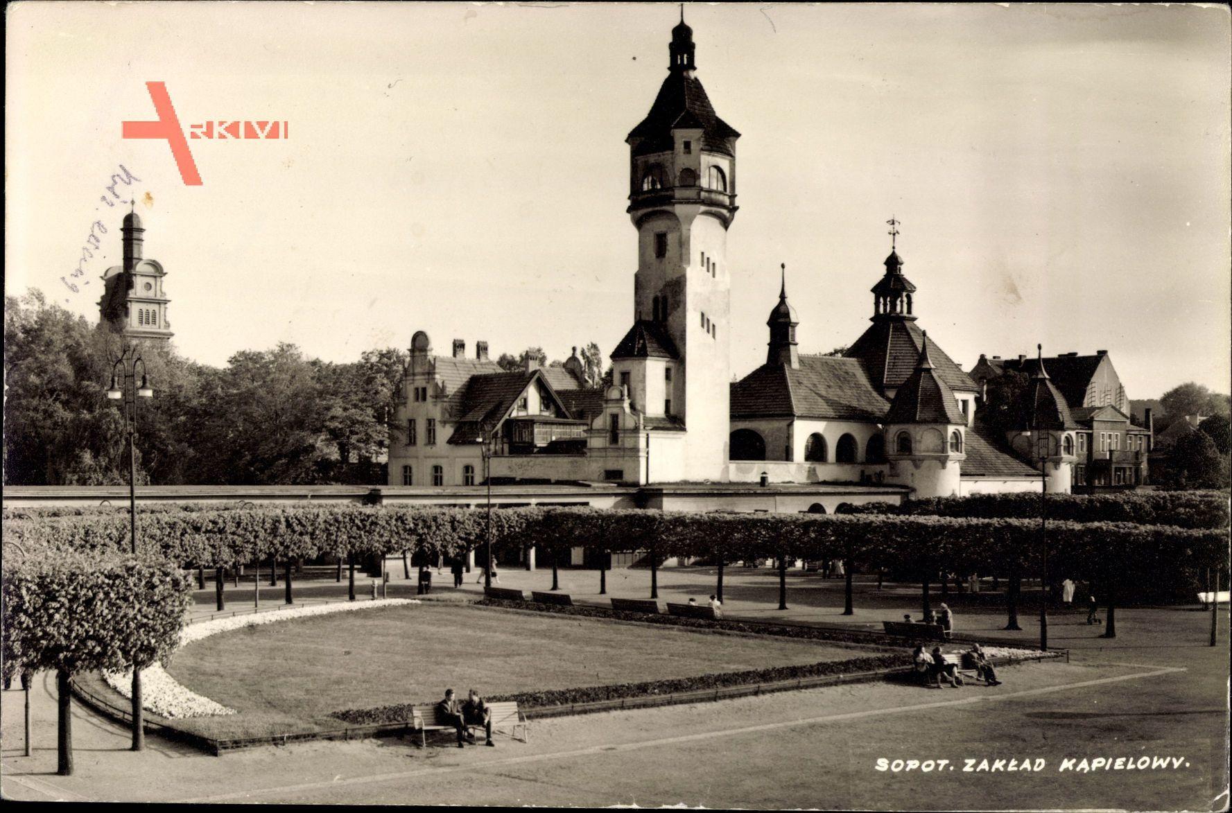 Sopot Gdańsk Zoppot Danzig, Zaklad Kapielowy, Badeanstalt