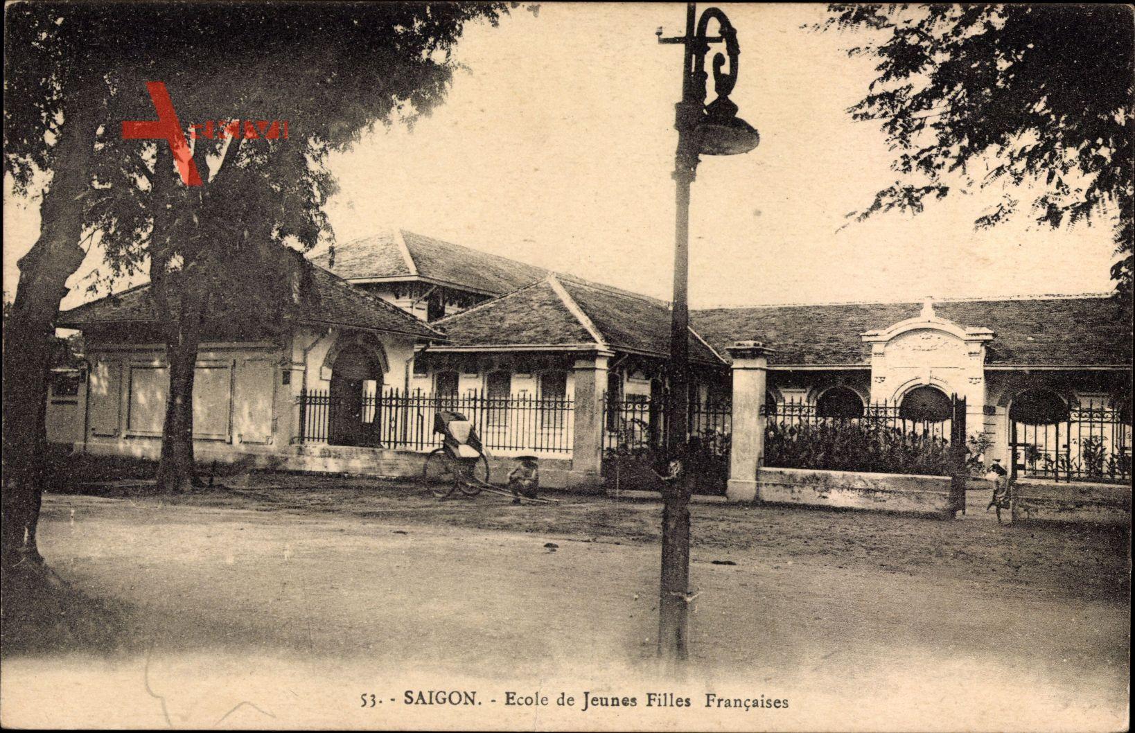 Saigon Cochinchine Vietnam, Ecole de Jeunes Filles Francaises, Schule