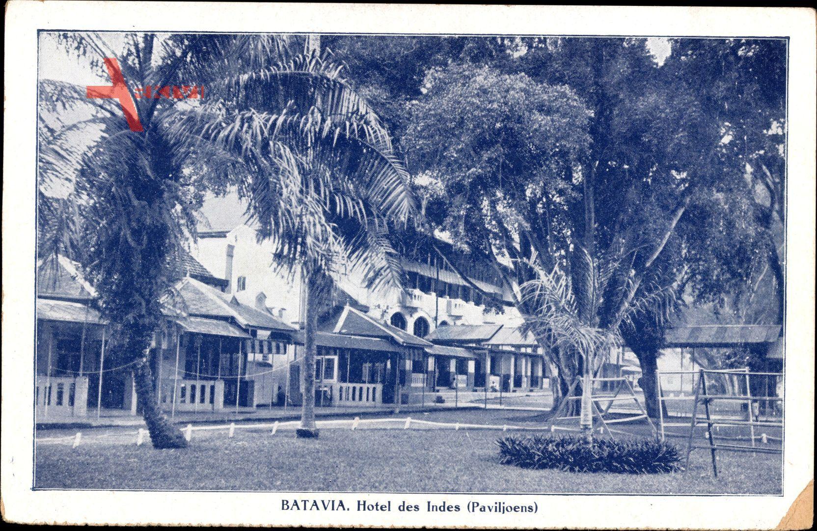 Batavia Jakarta Indonesien, Hotel des Indes, Paviljoens, Palmen