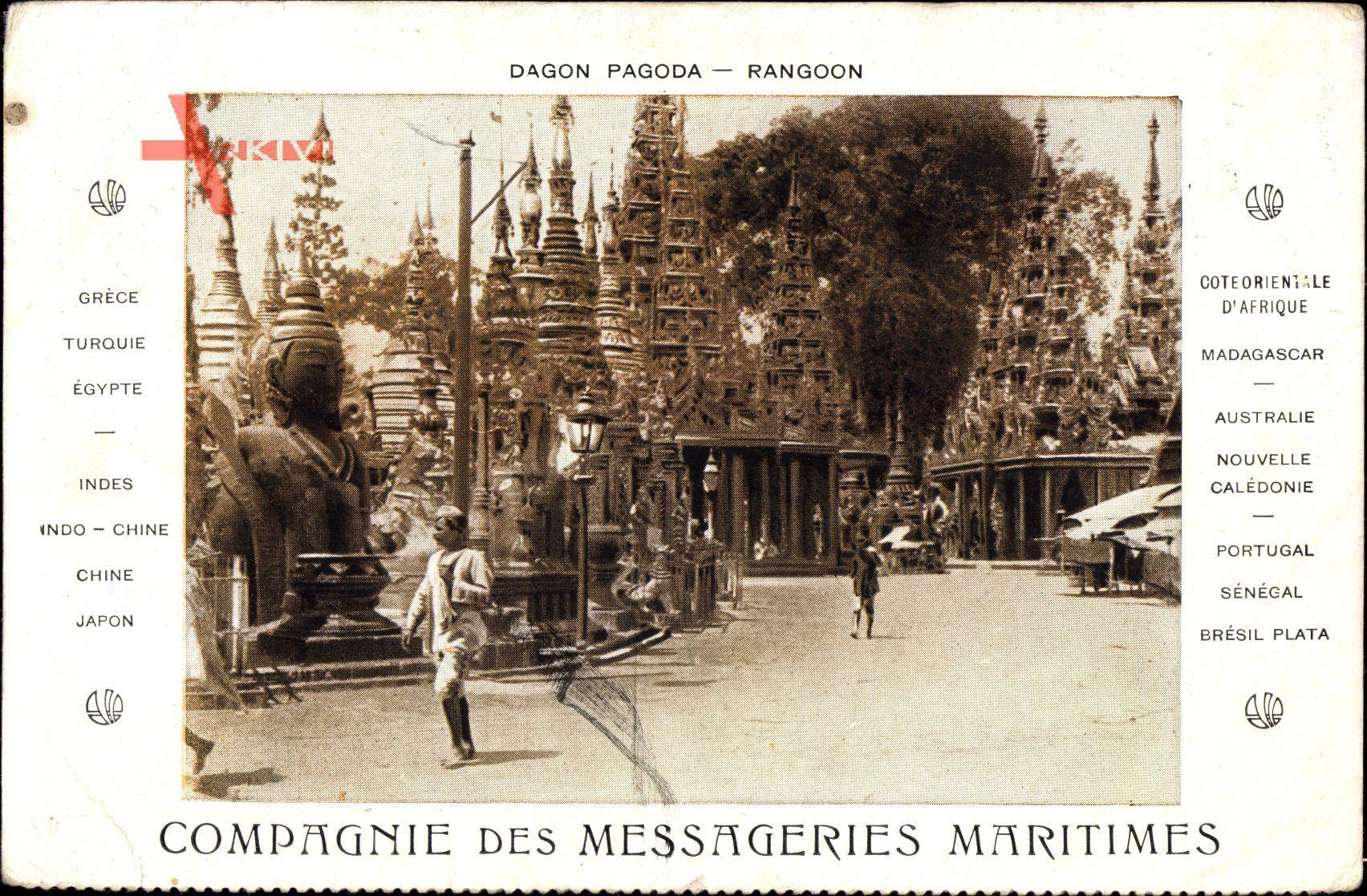 Rangoon Myanmar Burma, Dagon Pagoda, Blick auf eine Pagode