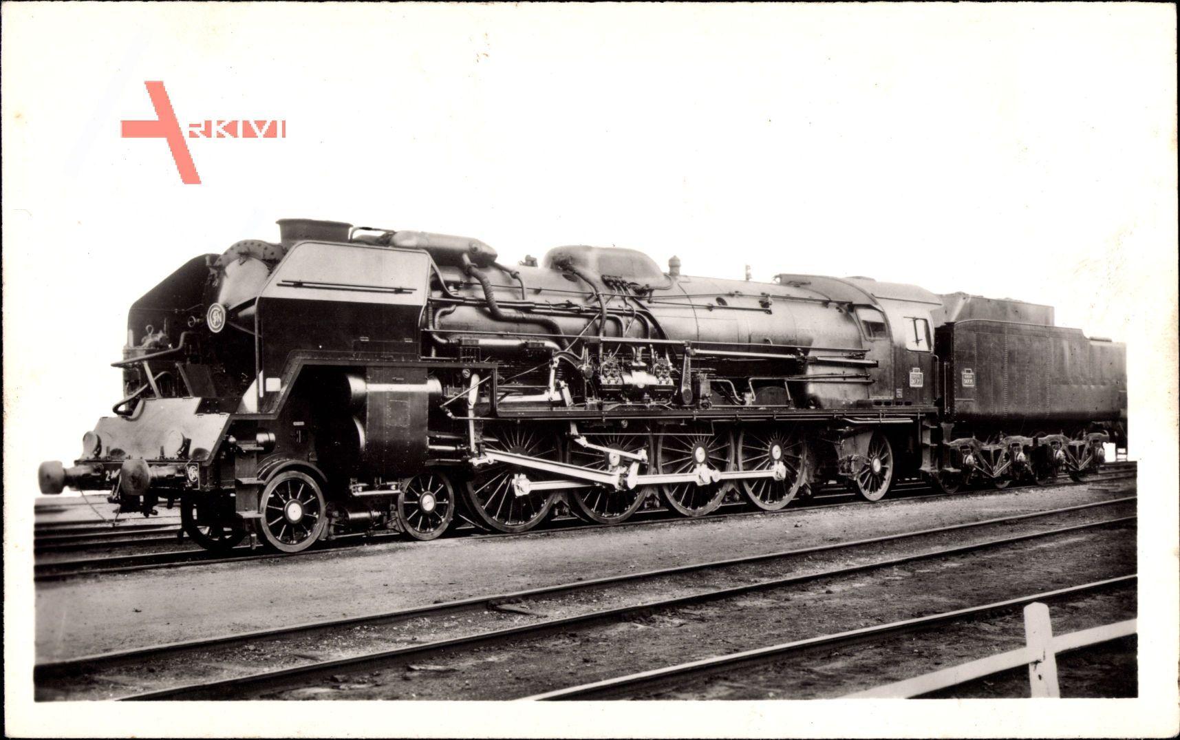 Französische Eisenbahn, Locomotive 241 P, Tender 34 P, Dampflok