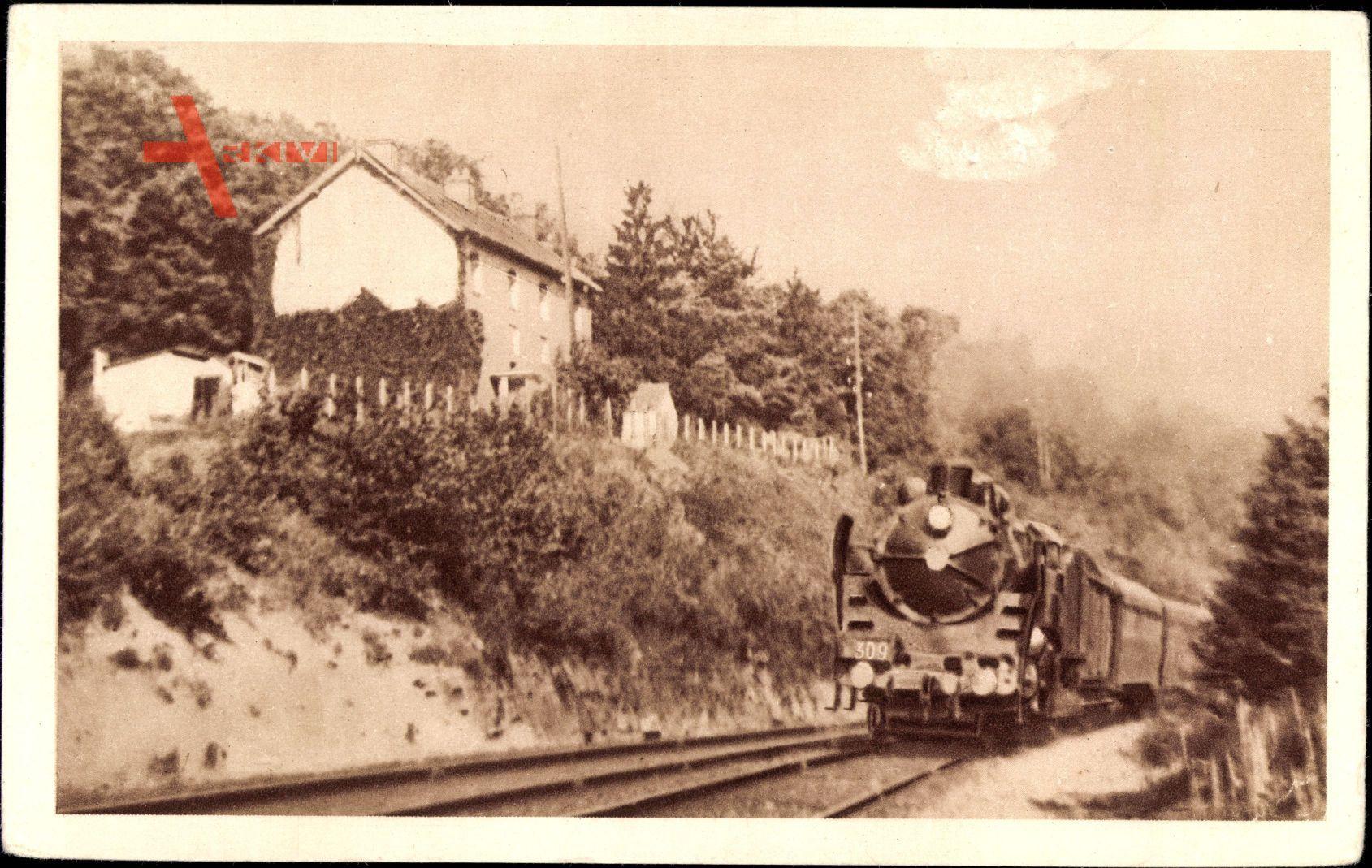 Französische Eisenbahn, Chemin de fer, Locomotive, Nord, Paris Lille