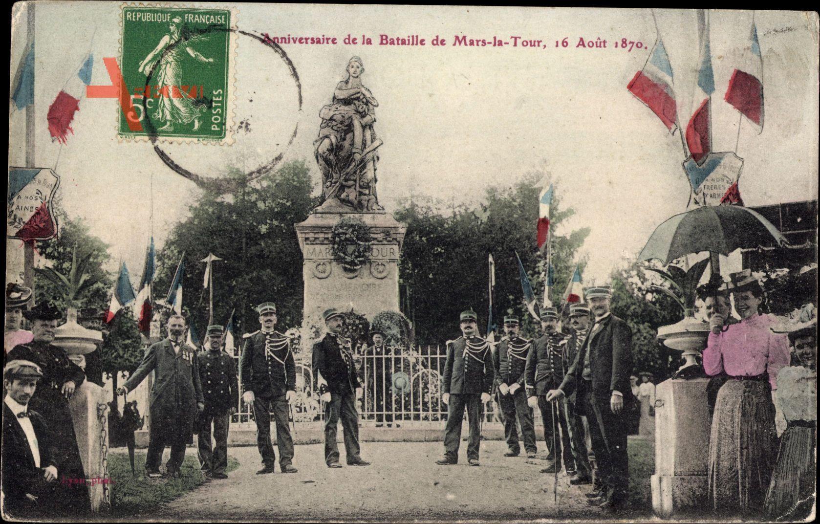 Mars la Tour Meurthe et Moselle, Anniversaire, 16 Août 1870