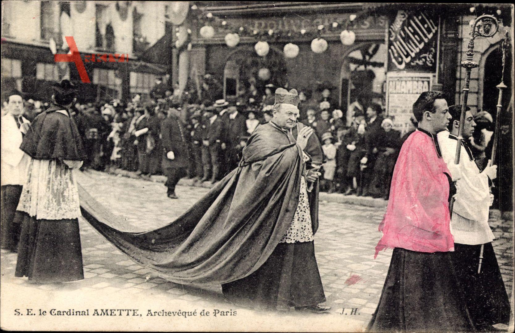 Paris, Archevêqué, S.E. le Cardinal Amette, Kardinal, Prozession